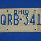 Vintage License Plate - Ohio  QRB-341