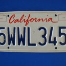 Vintage License Plate - California 5WWL345
