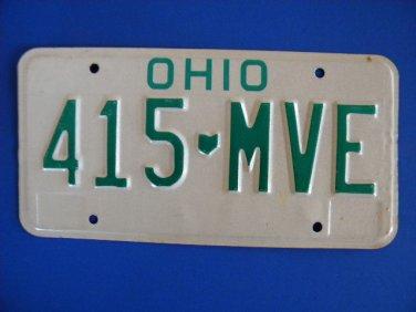 Vintage License Plate - Ohio  415 MVE