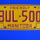 Vintage License Plate – Manitoba  BUL 500 Canada