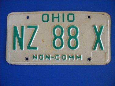 Vintage License Plate - Ohio NZ 88 X
