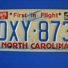 Vintage License Plate - North Carolina DXY 873