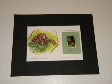 Matted Print and Stamp - Orangutan - World Wildlife Fund