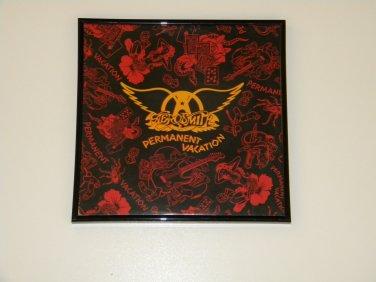 Aerosmith - Permanent Vacation - Framed Vintage Record Album Cover � 0237