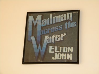 Elton John - Madman Across The Water - Framed Vintage Record Album Cover � 0247