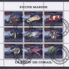 Ivory Coast Tropical Fish Postage Stamps Souvenir Sheet