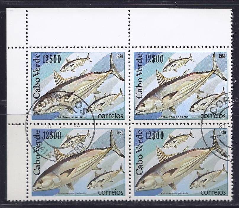 Cape Verde 1980 Block of Four - Skipjack Tuna
