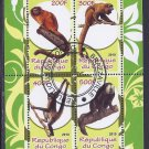 Congo Primate (monkeys and apes) Postage Stamps Souvenir Sheet