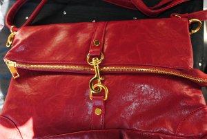 Red Handbag/messenger crossover