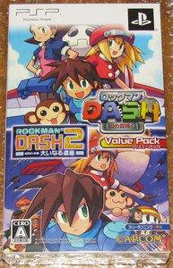 PSP Rockman Dash Rockman Dash 2 Value Pack JPN VER Used Excellent