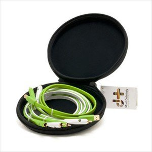 Oyaide d + Class B DJ Set RCA Analog Line Cable X 2 USB X 1 1.0m with Cable Case