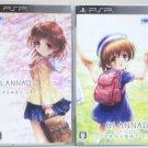 PSP Clannad Hikari Mimamoru Sakamichi de Vol 1 & 2  JPN VER Used Excellent Condi