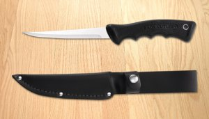 Sportsman Knife with Leather Scabbard