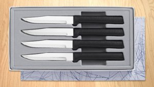Four Serrated Steak Knives Gift Set By Rada Cutlery
