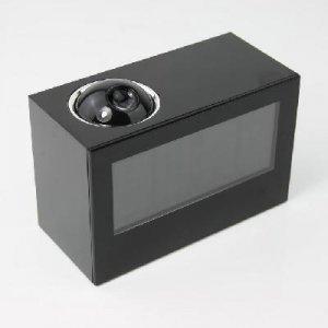Digital LED Projector Alarm Clock Black Rotate 180°