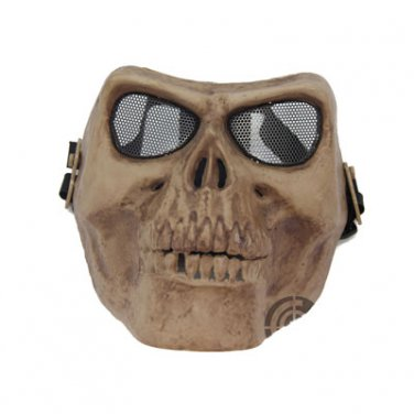 Death Skull Bone Airsoft Full Face Mask Protective Military Game - Skeleton