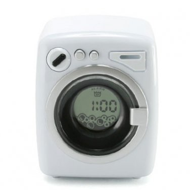 HOMADE Washing Machine Digital Alarm Clock Funny Toy Gadget - Gift Recommended