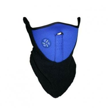 (Blue) Half Face Mask Neck Warm for Bicycle Bike Ski Snowboard Motorcycle