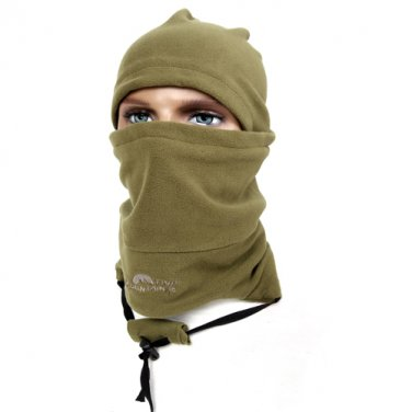 Mountain Trip MC-318 (Army) 3 in 1 Magic Face Mask Head Hood Hat Neck Warm Winter Protector