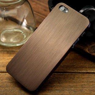 Metal Slim Case for iPhone 5 Titanium Skin Cover-Brown