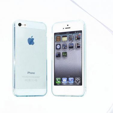 Slim TPU Soft Case Skin for iPhone 5 Transparent & Protective @Sky Blue