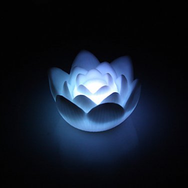 Lotus Shaped Colorful LED Night Light Charming Lamp (3xAG13)