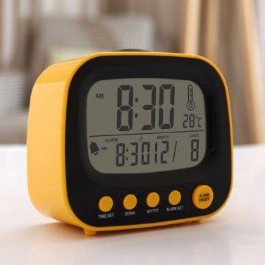Cute TV Clock Digital Alarm with Night Light AAA USB DC Gadget Gift