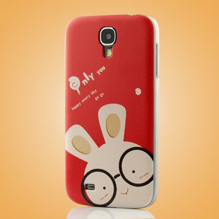 """Glass Rabbit"" Coloured Drawing Case for Samsung S4 I9500 IV Protective Shell Cover"