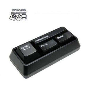 Keyboard Stationery Set Office Gadget Gift Black