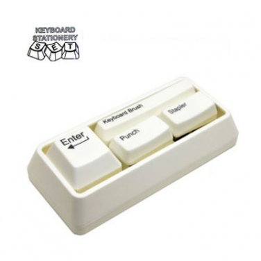 Keyboard Stationery Set Office Gadget Gift White