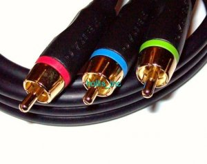 New 6 ft Dynex Best Buy Gold Component RCA Video Cable
