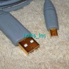 New 6 ft 24k Gold USB To Mini USB B 5 Pin Male Cable Adapter