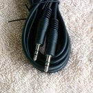 """New Black 6 Feet 3.5 mm 1/8"""" Mini Stereo Audio Auxiliary Cables Cords 3.5mm"""