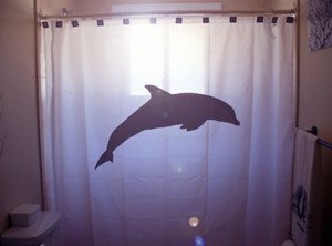 Unique Shower Curtain animal Dolphin bottlenose marine mammal