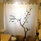 Unique Shower Curtain Chipmunk Oak Tree Nuts Last Acorn Branch