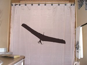 Unique Shower Curtain Hang Glider paragliding flying parachute