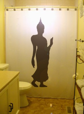 Unique Shower Curtain buddha statue nakhon pathom thailand
