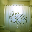 Unique Shower Curtain Dice luck double six 6 roll backgammon
