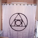 Unique Shower Curtain Alchemy alchemist occult wisdom immortal