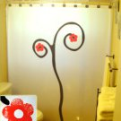Unique Shower Curtain Cherry Blossom Branch Tree Floral Flower
