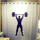 Unique Shower Curtain Body Builder weight lift workout muscle