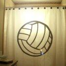 Unique Shower Curtain ball Volleyball beach court volley spike