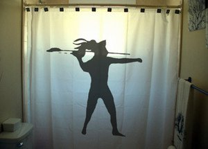 Unique Shower Curtain sport javelin throw thrower target shoot