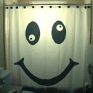 Unique Shower Curtain humor funny Smiley face happy wacky eyes