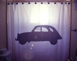 Unique Shower Curtain Car vintage classic old automobile auto