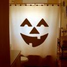 Halloween Unique Shower Curtain Jack O Lantern Pumpkin scary