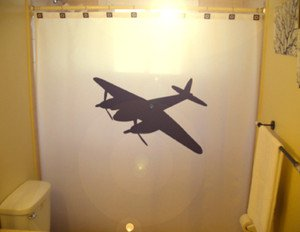 Unique Shower Curtain Airplane plane WWII Bomber B52 military