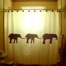 Unique Shower Curtain Elephants Herd Family Elephant 05