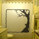 Unique Shower Curtain Tree Dead Branches Leaf Gnarly Trunk