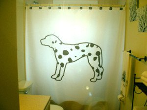 Unique Shower Curtain Dog Dalmation Spots Spotted Hound puppy